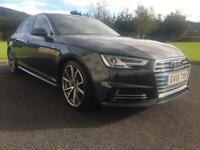 "Audi A4 S Line new shape Metallic Grey 19"" factory wheels sat nav 190"