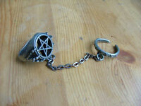 Alchemy Gothic pentagram ring
