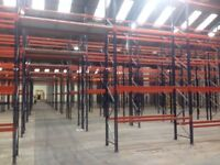 job lot 50 bays of mecalux pallet racking AS NEW( storage , shelving )