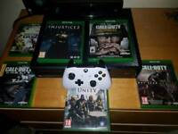Xbox one with Kinect and 5 games