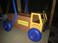 Personalised push along walker/truck 'Connor'