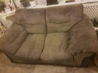 Grey cordroy 2 seater sofa FREE