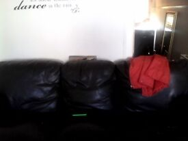 2 and 3 seater leather sofas, real leather, some wear and tear.