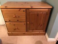 Pine filing cabinet