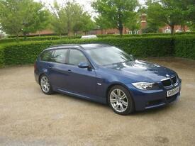 BMW 3 Series 320d M Sport (blue) 2007
