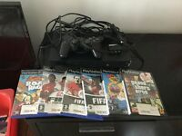 PlayStation 2, wired controller, memory card plus games
