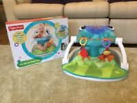Fisher Price rainforest sit me up floor seat for babies. With box.