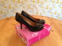 Black Patent Shoes - Brand New - Size 4
