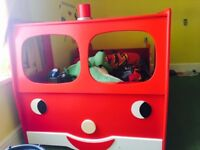 Full size single fire engine bed