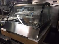 CATERING COMMERCIAL NEW HOT CABINET DISPLAY CHICKEN FISH MEAT FOOD SHOP BBQ KEBAB SHOP KITCHEN