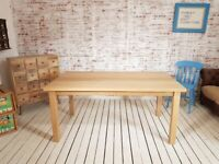 AB Grade Smooth Oak All Over Dining Kitchen Table Chunky Natural Finish