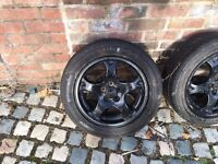 Whell rims with tyres