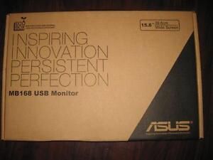 """ASUS 15.6"""" HD Portable USB Powered LED HD Monitor / Display Screen with USB 3.0 (MB168). Like NEW. Under ASUS Warranty"""