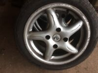 4 x Fox alloy wheels with 195/45 R15 tyres