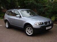EXCELLENT DIESEL 4X4!!! 54 REG BMW X3 2.0 d SE 5dr, 6 SPEED, FULL LEATHER, FSH, 1 YEAR MOT, WARRANTY