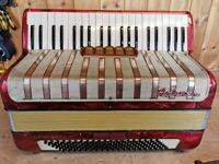 Hohner Concerto IV, 3 Voice (LMM), 120 Bass, Piano Accordion. Lessons Available.