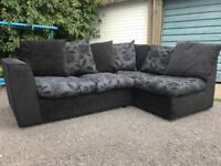 Black and grey sofas left or right £150 each or £280 the pair