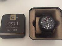 Fossil Machine Chronograph FS4065 Black Silicone Watch