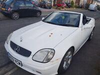 White Mercedes SLK Convertible