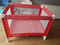 Travel cot bed immaculate condition