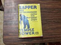 Sapper and bulldog Drummond continue to be great stuff temple tower hardback 1936 GC