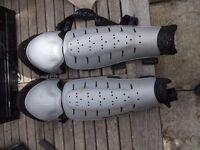 mountain biking knee and shin guards large size