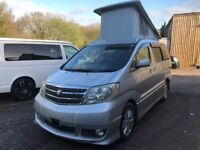 2003 TOYOTA ALPHARD 2.4 PETROL 4 BERTH POP TOP CAMPERVAN NEW SIDE CONVERSION 2WD