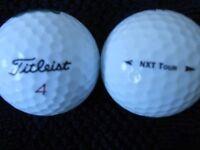 Titleist NXT Golf Balls x 100. A Grade Condition