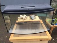 Fish tank aquarium and accessories pump filter heater light plants rocks