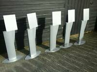 FREE STANDING METAL STANDS FOR HOLDING BOOKLETS SIGNS OR MUSIC SHEETS