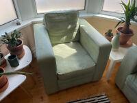 Two seats sofa / coach + armchair (free)