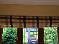 4x Laura Ashley fabric Roman blinds- VGC