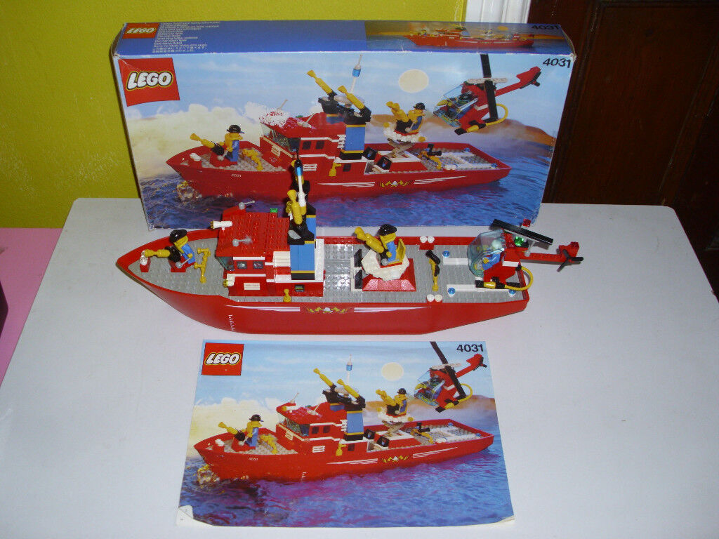 LEGO LARGE FIRE RESCUE SHIP + HELICOPTER(BOXED WITH INSTRUCTIONS) 4031