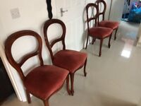 4 x balloon backed dining chairs - bargain