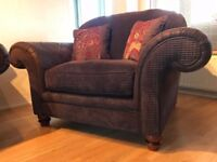 Brown Sofology Love Chair Pristine Condition