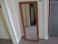 Long Full Length Pine Mirror
