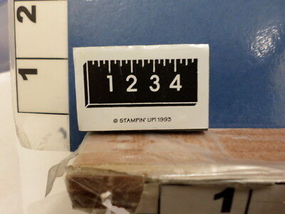 (ruler with inches stampin up!  RUBBER STAMP 18v)