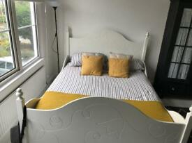 IKEA white king size bed frame