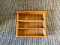 Cute pine 3 shelf unit for storage