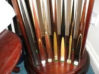 ***** 40+ YEARS COLLECTION Snooker, Pool, & American Cues and Extensions/Cases *****