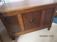 REDUCED PRICE Lovely Old Wooden Blanket /Toy Storage Box Bargain!!