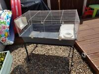 Ferplast 100 indoor guniea pig or rabbit cage hutch with stand