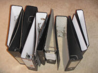 8 Lever Arch Folders + 3 A4 Folders. Black. Great for business, student or home filing.