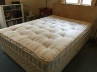 Double Divan Bed with Headboard and Mattress