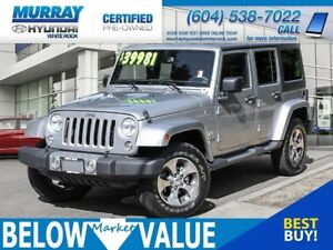 2017 Jeep Wrangler Unlimited Sahara**NAVI**REAR CAMERA**BLUETOOT