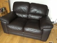 2 and 3 Seater Brown Leather Sofas