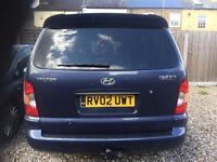 Hyundai trajet 2.0 blue 7 seater 2002 MPV petrol