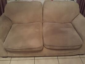 Beige sofa plus 2 seater for sale great condition washable covers