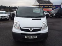 2008 VAUXHALL VIVARO 2700 CDTI SWB MANUAL WHITE
