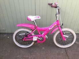 "Girls Giant bicycle - 16"" tyres (age around 4-6)"